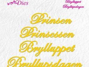 SD057 Nellie Snellen Die, Shape Die Prinsen Prinsessen ...-0
