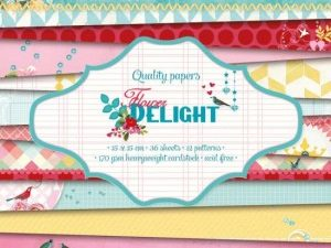 PPFD22 Studiolight Papirblok Flower Delight-0