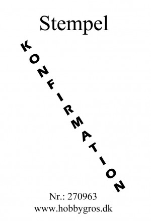 270963 Hobbygros Citatstempel Konfirmation-0