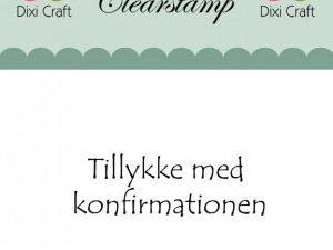 """270989 Dixi Craft Stempel, """"Tillykke med konfirmationen""""-0"""