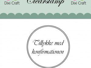 """273033 Dixi Craft Stempel, """"Tillykke med konfirmationen med to cirkler""""-0"""