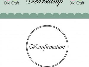 "273034 Dixi Craft Stempel, ""Konfirmation med to cirkler""-0"