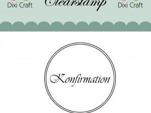 """273034 Dixi Craft Stempel, """"Konfirmation med to cirkler""""-0"""