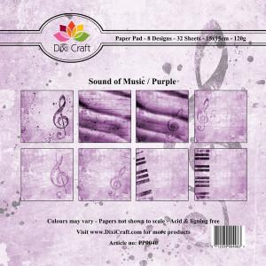 PP0040 Dixi Craft Papirspakning Sound Of Music Purple-0