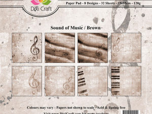 PP0041 Dixi Craft Papirspakning Sound Of Music Brown-0