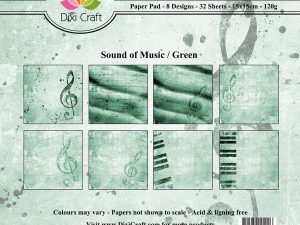 PP0042 Dixi Craft Papirspakning Sound Of Music Green-0
