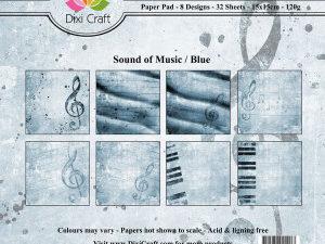 PP0043 Dixi Craft Papirspakning Sound Of Music Blue-0