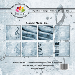 PP0043 Dixi Craft Papirspakning Sound Of Music Blue-0