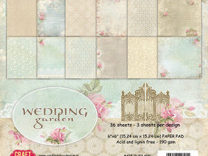CPB-WG15 Craft & You Papirblok Wedding Garden -0