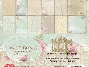 CPB-WG15 Craft & You Papirblok Wedding Garden -0