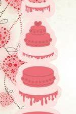 6002/0429 JOY Die Cut/emb Just Married Wedding Cake-0
