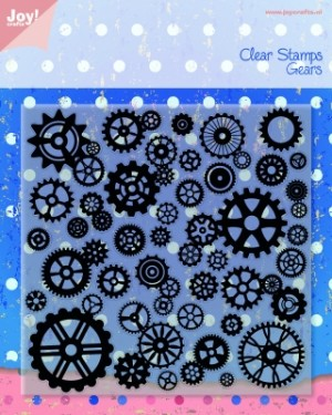 6410/0080 JOY Clearstamp, Gears-0
