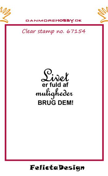 """67154 Felicita Design Stempel """"Livet er fuld af....""""-0"""