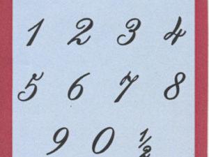 67163 Felicita Design Stempel, Dansk tekst, Tal-0