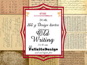 67300 Felicita Design Toppers 7 x 10 cm Old writing -0