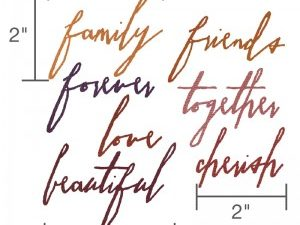 660218 Sizzix Die Tim Holtz Thinlits Handwriting Love-0