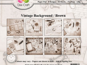 PP0045 Dixi Craft Papirspakning Vintage Background, brown-0