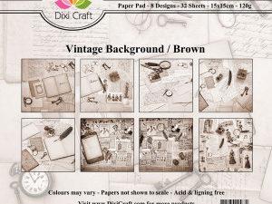 PP0045 Dixi Craft Papirspakning Vintage Background, brown-0