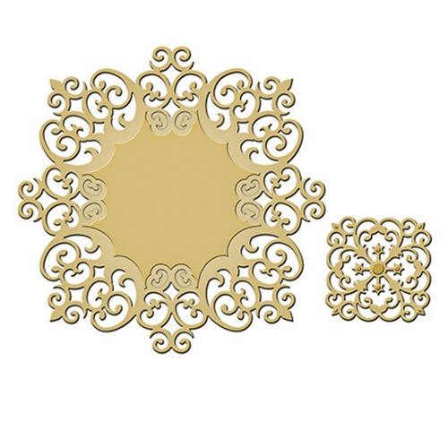 S4-443 Spellbinders Die Shapeabilities Victorian Medallion Two-0