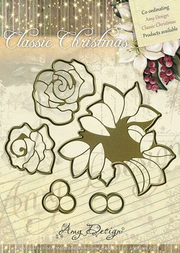 ADD10016 Amy Design Die, Classic Christmas Roses-0
