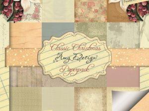ADPP10005 Amy Design Papirsblok Classic Christmas -0