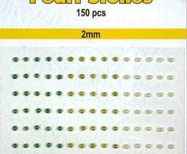 APS202 Nellie Snellen Halvperler selvklæbende 2mm 150 stk Grønne Nuancer-0