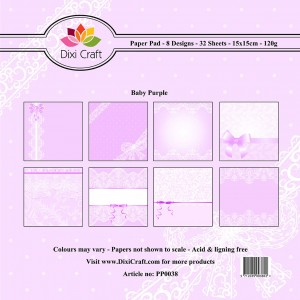 PP0038 Dixi Craft Papirspakning Baby Purple-0