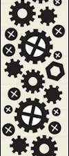 CR1324 Marianne Design Die Cut/emb Craftables Silver selection Punch Die Nuts & Bolts-0
