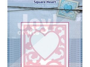 6002/0445 JOY Die Cut/emb Square Heart-0