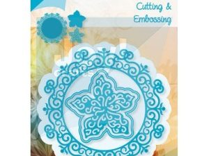 6002/0460 JOY Die Cut/emb Circle With Flower-0