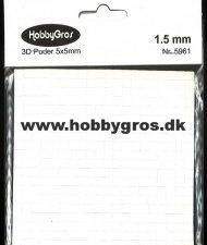 5961 3D Puder 5x5 mm 1,5 mm tyk, hvide-0