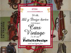 67304 Felicita Design Toppers 7 x 10 cm Cars Vintage -0