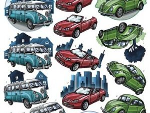 0410440 Yvonne Design 3D 1 ark CD10440 Forskellige biler-0