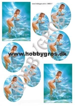 066017 Lene Design 3D 1 ark Fræk pige-0