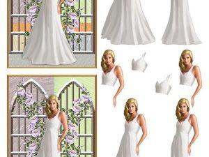 067286 BARTO DESIGN 3D 1 ark Konfirmation pige med baggrund -0
