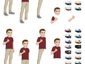 067315 BARTO DESIGN 3D 1 ark Student Dreng forskellige huer -0