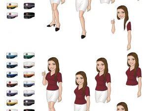 067316 BARTO DESIGN 3D 1 ark Student Pige forskellige huer -0