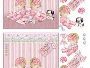 067331 BARTO DESIGN 3D 1 ark tvilling piger-0