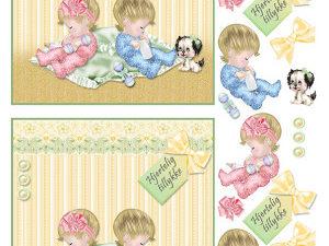 067333 BARTO DESIGN 3D 1 ark baby tvillinger dreng, pige-0