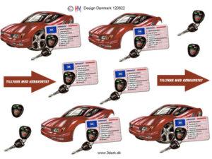 120822 HM Design 3D 1 ark tillykke med kørekortet rød bil-0