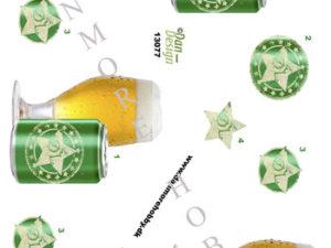 13077 Dan Design 3D 1 ark øl i glas og dåse -0