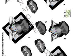 13172 Dan Design 3D ark kasket iphone og converse sort -0