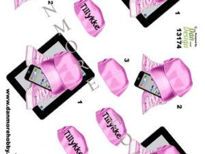13174 Dan Design 3D ark kasket iphone og converse pink -0