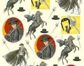 2245 Knipvel 3D 1 ark Zorro i action-0