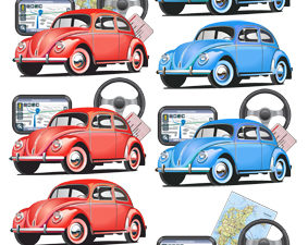 204203 Quickies 3D 1 ark VW Boble bil -0