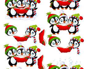204231 Quickies 3D 1 ark Søde pingviner der synger-0