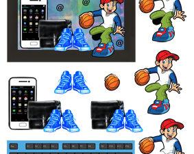 204268 Quickies 3D 1 ark Computer med dreng og drengeting-0