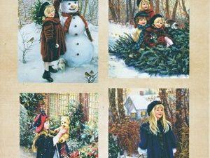 NEVI015 Nellie Snellen Vintage ark 1 ark Snow Fun-0