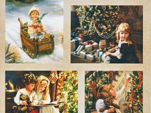 NEVI017 Nellie Snellen Vintage ark 1 ark Cozy Christmas-0