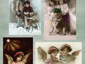 NEVI048 Nellie Snellen Vintage ark 1 ark Vintage Christmas-0